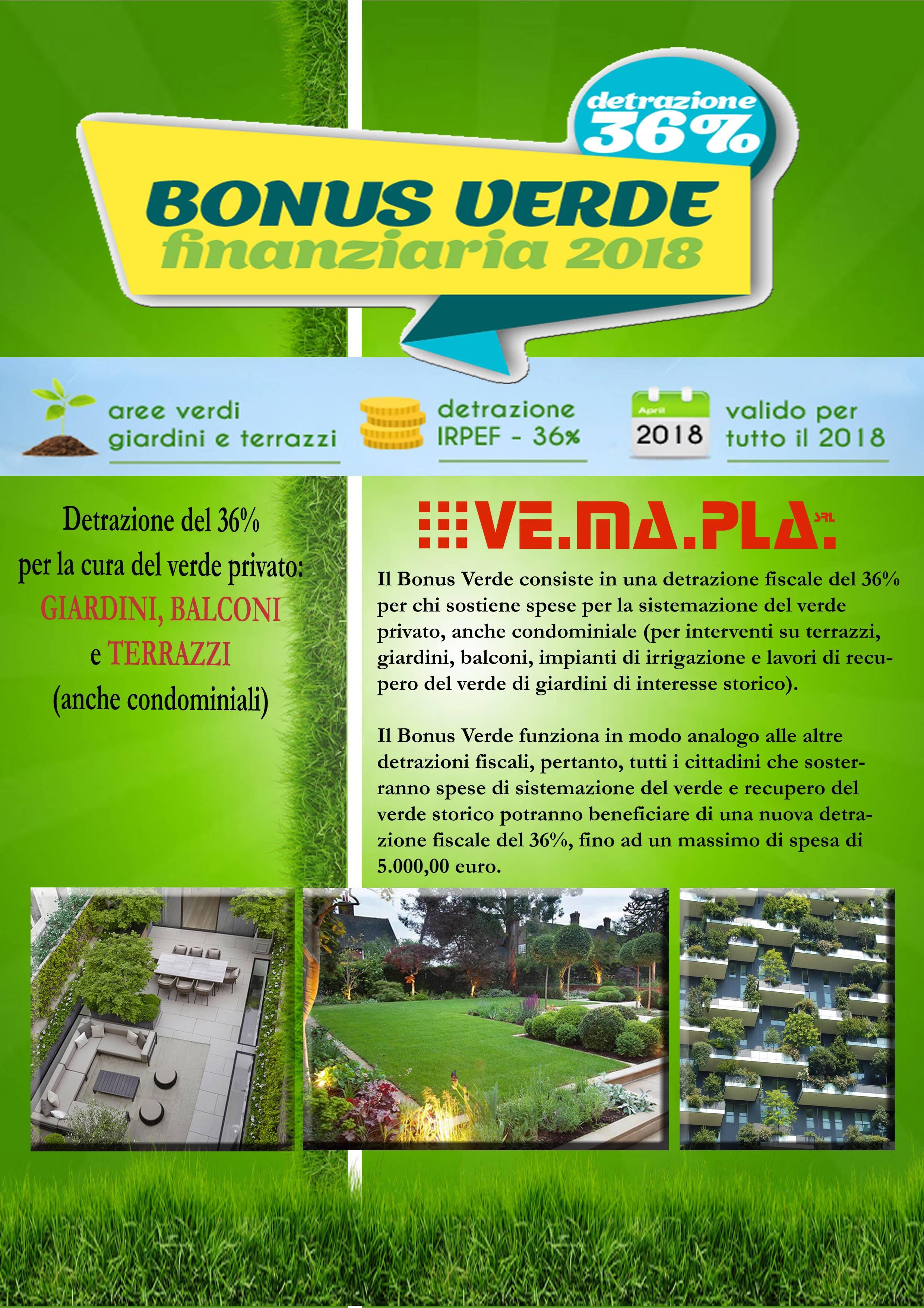 Locandina Bonus Verde Vemapla