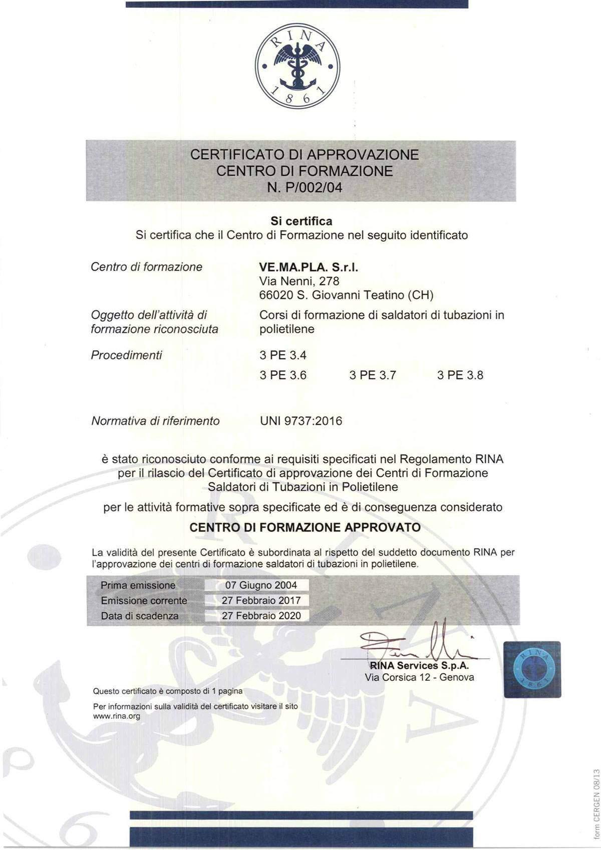 certificato CFT